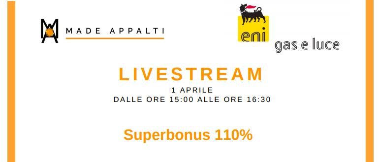 Livestream – Superbonus 110%